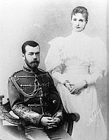 0350310 © Granger - Historical Picture ArchiveNICHOLAS II & ALEXANDRA.    Emperor Nicholas II of Russia and his wife, Empress Alexandra Feodorovna of Russia. Photograph, 1890s. Full credit: ITAR-TASS Photo Agency / Granger, NYC -- All Rights Reserved.