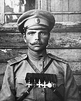 0353650 © Granger - Historical Picture ArchiveWWI: RUSSIAN INFANTRY, 1914.    A portrait of Russian junior warrant officer of the Pereyaslavl infantry regiment, Nikolai Filippovich Fedorchuk, 1914. Full credit: ITAR-TASS Photo Agency / Granger, NYC -- All rights reserved.