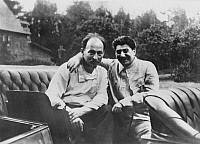0353802 © Granger - Historical Picture ArchiveJOSEPH STALIN (1879-1953).   Russian revolutionary and Communist leader. With Minister of the Interior Felix Dzerzhinsky, 1922. Full credit: ITAR-TASS Photo Agency / Granger, NYC -- All Rights Reserved.