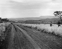 0124049 © Granger - Historical Picture ArchiveKENYA: HIGHWAY, 1936.   Scene along a muddy highway in the Rift Valley in Kenya. Photographed in 1936.