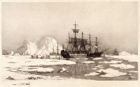 0266659 © Granger - Historical Picture ArchiveARCTIC OCEAN, 1890.   'In the Arctic icefields.' Print from a drawing by William Bradford, 1890.