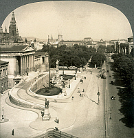 0017892 © Granger - Historical Picture ArchiveVIENNA, AUSTRIA.   A view of the Franzens-Ring showing the Parliament on the left. Early 20th century.