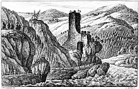 0165847 © Granger - Historical Picture ArchiveAUSTRIA: THE STRUDEL.   A view of the Strudel, a section of rapids on the Danube River near Grein, Austria. Etching, c1780, by J.M. Frey after Anton Christoph Gignoux.