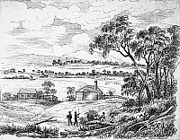 0005202 © Granger - Historical Picture ArchiveAUSTRALIA: SYDNEY, 1788.   Australia at the time of its founding as a penal colony. After a contemporary drawing.