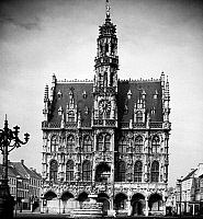 0115375 © Granger - Historical Picture ArchiveBELGIUM: GOTHIC TOWN HALL.   The town hall in Audenarde, West Flanders, Belgium, built 1526-1537. Photograph, mid-20th century.