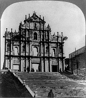 0115753 © Granger - Historical Picture ArchiveCHINA: CHURCH, c1904.   The ruins of the Sao Paulo Church in Macau, China. Stereograph, c1904.
