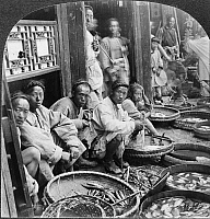 0116722 © Granger - Historical Picture ArchiveCHINA: FISH MARKET, c1928.   A Chinese fish market in Huai An, China. Stereograph, c1928.