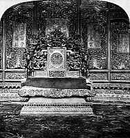 0121681 © Granger - Historical Picture ArchivePEKING: IMPERIAL THRONE.   A view of the grand throne at the imperial palace in the Forbidden City, Peking, China. Stereograph, 1901.