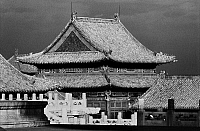 0121825 © Granger - Historical Picture ArchivePEKING: FORBIDDEN CITY.   View from an upper terrace of the imperial palace in the Forbidden City, Peking, China, showing the roofs of nearby pavilions. Photographed c1970.