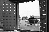 0121829 © Granger - Historical Picture ArchivePEKING: FORBIDDEN CITY.   Bronze cauldron on an upper terrace at the imperial palace in the Forbidden City, Peking, China. Photographed c1970.