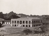 0351432 © Granger - Historical Picture ArchiveCHINA: GULANGYU ISLAND.   A building on Gulangyu Island off the coast of Xiamen, China. Photograph, c1880.