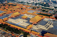 0355286 © Granger - Historical Picture ArchiveFORBIDDEN CITY, 2006.   Aerial view of the Forbidden City complex in Beijing, China. Photograph, 2006. Full credit: sinopictures / Wenxiao - ullstein bild / Granger, NYC -- All rig