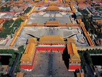 0355288 © Granger - Historical Picture ArchiveFORBIDDEN CITY, 2006.   Aerial view of the Forbidden City complex in Beijing, China. Photograph, 2006. Full credit: sinopictures / Wenxiao - ullstein bild / Granger, NYC -- All rig