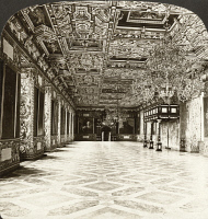 0326285 © Granger - Historical Picture ArchiveCOPENHAGEN: ROYAL PALACE.   Hall of the Knights at the Royal Palace of Frederiksborg, in Copenhagen, Denmark. Stereograph, 1902.