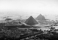 0115898 © Granger - Historical Picture ArchiveEGYPT: PYRAMIDS.   Aerial photograph of the Great Pyramids at Giza, mid-20th century.