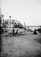 0120122 © Granger - Historical Picture ArchiveEGYPT: CAIRO.   A street scene along the waterfront in old Cairo, Egypt. Photograph, early 20th century.