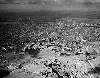 0120127 © Granger - Historical Picture ArchiveEGYPT: CAIRO, c1936.   An aerial view of Cairo, Egypt, showing the Citadel (Al Qala), a walled fortress on top of the hill. Photograph, c1936.