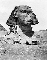 0120558 © Granger - Historical Picture ArchiveEGYPT: GREAT SPHINX.   A view of the Great Sphinx, Giza, Egypt. Photograph, mid or late 20th century.