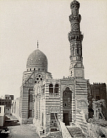 0120697 © Granger - Historical Picture ArchiveEGYPT: CAIRO.  The tombs of the Khalifa and the Mosque of Kait Bey, Cairo, Egypt. Photograph, mid or late 19th century.