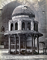 0120723 © Granger - Historical Picture ArchiveEGYPT: CAIRO.   The ablution fountain of the Assan Pacha Mosque, probably in the courtyard. Photgraph, mid or late 19th century.