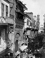 0120764 © Granger - Historical Picture ArchiveEGYPT: CAIRO.   A busy commercial street in Cairo, Egypt. Photograph, mid or late 19th century.