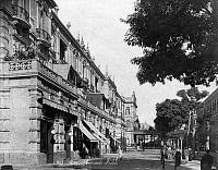 0120766 © Granger - Historical Picture ArchiveEGYPT: CAIRO.   Shepheard's Hotel in Cairo, Egypt. Photograph, mid or late 19th century.