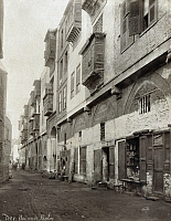 0120780 © Granger - Historical Picture ArchiveEGYPT: CAIRO.   A street in the Bulaq section of Cairo, Egypt. Photograph, mid or late 19th century.