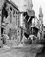 0120807 © Granger - Historical Picture ArchiveEGYPT: CAIRO.   A street in the city of Cairo, Egypt. Photograph, mid or late 19th century.