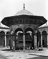 0120815 © Granger - Historical Picture ArchiveEGYPT: CAIRO.   The fountain of the Mosque of Mohammed Ali in Cairo, Egypt. Photographed by Antonio Beato, late 19th century.