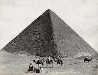0128549 © Granger - Historical Picture ArchiveEGYPT: CHEOPS PYRAMID.   View of the Great Pyramid of Cheops at Giza, Egypt. Photograph, late 19th century.