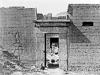 0128562 © Granger - Historical Picture ArchiveEGYPT: MEDINET HABU.   The entrance of Medinet Habu, also called the Mortuary Temple of Ramses III, located at the Theban Necropolis in Egypt. Photograph by Francis Frith, c1850-1880.