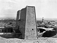 0128578 © Granger - Historical Picture ArchiveEGYPT: TEMPLE OF ISIS.   The pylon of the Temple of Isis, located on the island of Philae in the Nile River, Egypt. Photograph by Francis Frith, c1850-1880.