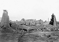 0128727 © Granger - Historical Picture ArchiveEGYPT: KARNAK.   View of the ruins of the temple complex at Karnak, Egypt. Photograph by Francis Frith, c1850-1880.