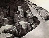 0129118 © Granger - Historical Picture ArchiveEGYPT: ABU SIMBEL.   Colossal statues of Ramesses II at the great temple at Abu Simbel, Egypt. Photograph by Francis Frith, c1860.