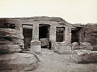 0129121 © Granger - Historical Picture ArchiveEGYPT: TEMPLE OF DERR.   The rock-cut Temple of Derr in Lower Nubia, Egypt, built during the reign of Ramesses II. Photograph by Francis Frith, c1860.