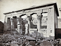 0129129 © Granger - Historical Picture ArchiveEGYPT: TEMPLE OF KALABSHA.   The temple of Kalabsha, built c30 B.C., near Aswan, Egypt. Photograph by Francis Frith, c1860.