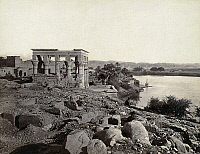 0129133 © Granger - Historical Picture ArchiveEGYPT: ISLAND OF PHILAE.   Trajan's Kiosk on the island of Philae in the Nile River, Egypt. Photograph by Francis Frith, c1860.