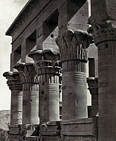 0129134 © Granger - Historical Picture ArchiveEGYPT: TRAJAN'S KIOSK.   Columns on Trajan's Kiosk on the island of Philae, in the Nile River in Egypt. Photograph by Francis Frith, c1860.