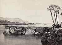 0129136 © Granger - Historical Picture ArchiveEGYPT: ROMAN PIER.   Ruins of a pier built by Romans, on the Nile River near Aswan, Egypt. Photograph by Francis Frith, c1860.
