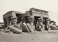 0129138 © Granger - Historical Picture ArchiveEGYPT: OMBOS, c1860.   Ruins of the Temple of Sobek and Haroeris, 2nd century B.C., at Ombos, Egypt, on the Nile River 50 kilometers north of Aswan. Photograph by Francis Frith, c1860.