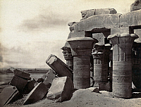 0129139 © Granger - Historical Picture ArchiveEGYPT: OMBOS, c1860.   Ruins of the Temple of Sobek and Haroeris, 2nd century B.C., at Ombos, Egypt, on the Nile River 50 kilometers north of Aswan. Photograph by Francis Frith, c1860.