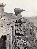 0129146 © Granger - Historical Picture ArchiveEGYPT: GEBEL EL-SILSILA.   Ruins of rock-cut shrines at the quarry site of Gebel el-Silsila, Egypt. Photograph by Francis Frith, c1860.