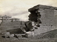 0129151 © Granger - Historical Picture ArchiveEGYPT: TEMPLE RUINS.   Ruins of a temple at Armant, Egypt. Photograph by Francis Frith, c1860.