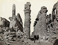 0129169 © Granger - Historical Picture ArchiveEGYPT: KARNAK RUINS.   Ruins of a hypostyle hall at Karnak, Egypt. Photograph by Francis Frith, c1860.