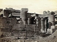0129170 © Granger - Historical Picture ArchiveEGYPT: KARNAK RUINS.   Ruins of the great hall at Karnak, Egypt. Photograph by Francis Frith, c1860.