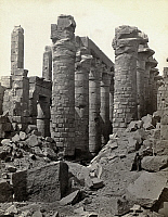0129171 © Granger - Historical Picture ArchiveEGYPT: KARNAK RUINS.   Ruins of the hypostyle hall at Karnak, Egypt. Photograph by Francis Frith, c1860.