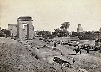 0129173 © Granger - Historical Picture ArchiveEGYPT: KARNAK RUINS.   Avenue of Sphinxes at Karnak, Egypt. Photograph by Francis Frith, c1860.