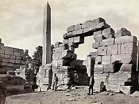 0129175 © Granger - Historical Picture ArchiveEGYPT: KARNAK RUINS.   Ruins of a sanctuary at Karnak, Egypt. Photograph by Francis Frith, c1860.
