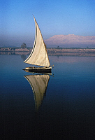 0129922 © Granger - Historical Picture ArchiveEGYPT: FELUCCA ON THE NILE.   Photographed c1974.
