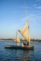 0129923 © Granger - Historical Picture ArchiveEGYPT: FELUCCAS ON THE NILE.   Photographed c1974.